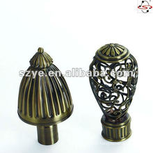 classical red decorative curtain finial/head
